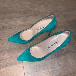 Manolo Blahnik Green BB pumps size 37.5